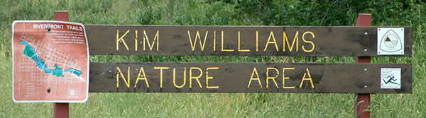 Kim Williams Nature Area Sign