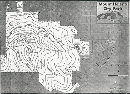 Map of Mt. Helena