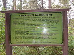 Swan River Sign