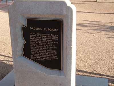 Gadsen Purchase sign