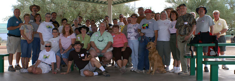 All the great people at the Family event at Anamax Park