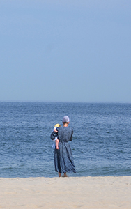 Menonite on Beach