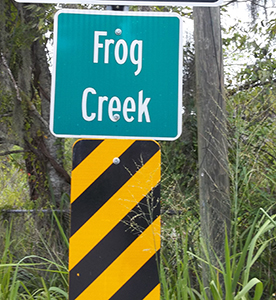 Frog Creek Sign