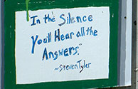 Hint - In the Silence You'll Hear all the Answers