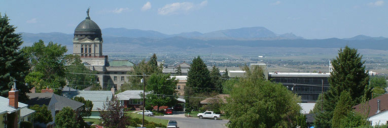 Helena, Montana with Sleeping Giant in the background